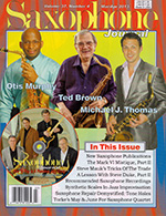 Saxophone Journal March April 2013